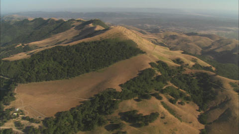 Helicopter aerial of the hills north of the Santa Maria... Stock Video Footage