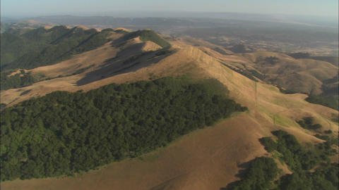 Helicopter aerial of the hills north of the Santa Maria Valley, California Live Action