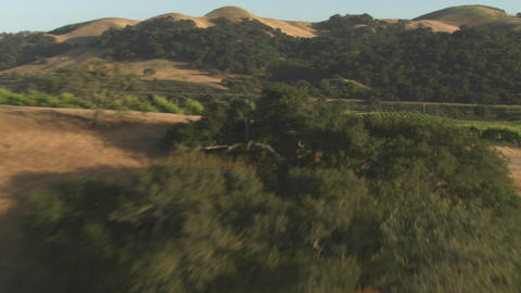 Helicopter low level aerial of Santa Barbara County... Stock Video Footage