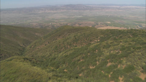 A helicopter aerial of the Salinas Valley, California Footage
