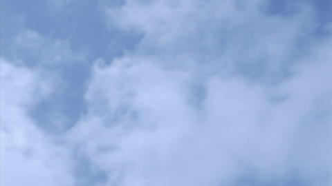 Clouds move quickly across the sky Stock Video Footage