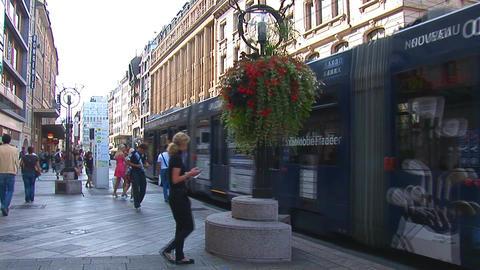 Geneve tram Stock Video Footage