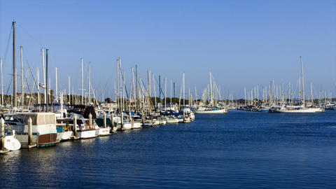 Time-lapse of small boat harbor Stock Video Footage