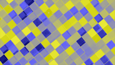 Looping animations of a blue and yellow checkerboard design Animation