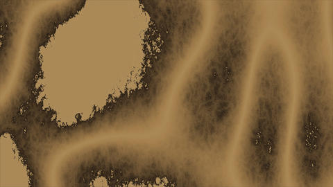 Looping animations of a tan and brown amorphous or organic design Animation