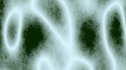 Looping animations of a white and green amorphous or... Stock Video Footage