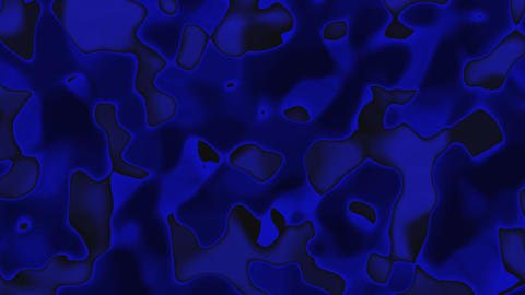 Looping animations of a blue and black liquid camouflage like pattern with high contrast and hard ed Animation