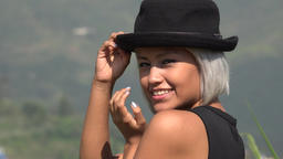 Flirty Sexy And Attractive Young Woman With Hat Live Action