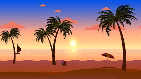 Beach landscape animation Animation