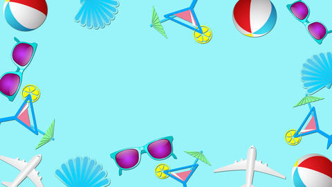 Summer vacations and beach holidays Animation