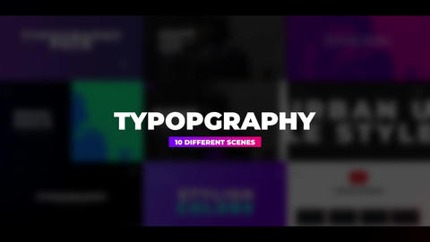 Typo Scenes Apple Motion Template