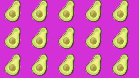 avocado pattern, ideal footage for themes such as cooking, healthy life, diets and well-being Videos animados
