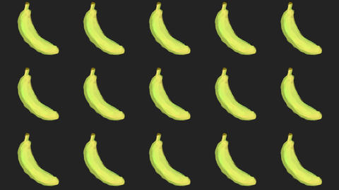 banana patterns, ideal footage for themes such as cooking, healthy life, diets and well-being Videos animados