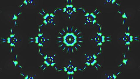 Kaleidoscope geometrical nostalgic trendy shimmering background Live Action
