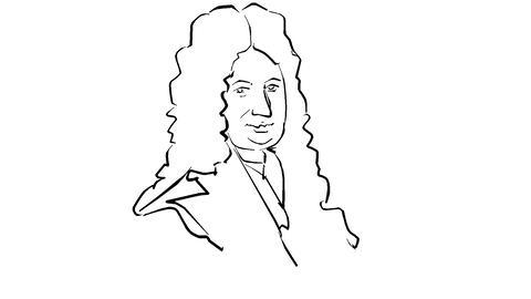 Gottfried Wilhelm Leibniz Animation