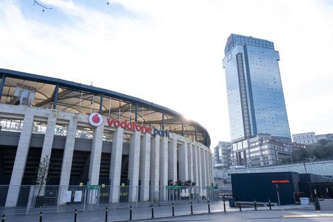 BJK Vodafone Park Arena is home ground of Besiktas JK Football Club. Suzer Plaza, The Ritz Carlton Photo