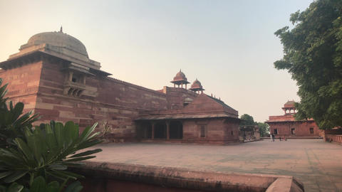 Fatehpur Sikri, India - historic buildings of the ancient city Live Action