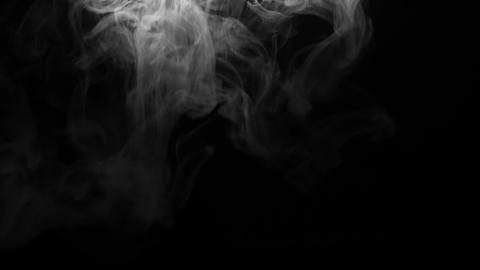 Soft smoke falling gently on the screen Live Action