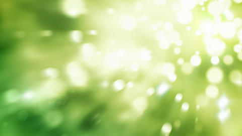 Bokeh light particles green abstract background seamless loop Animation