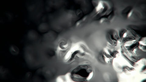 Liquid metal abstract motion background seamless loop Animation