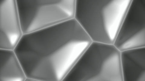 Gray cellular metal surface abstract motion background seamless loop Animation