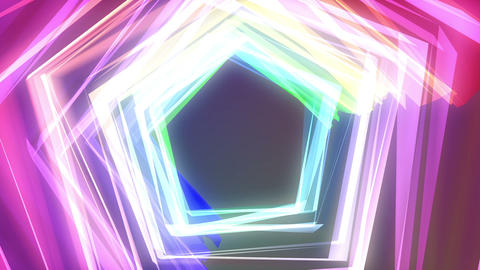 Color Tunnel Stock Video Footage