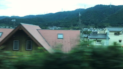 4K time-lapse video of the Landscape as seen from the Japanese train Footage