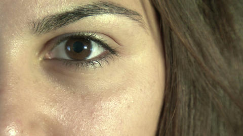 Close-up of woman's eye Footage