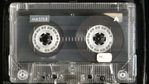 Audio cassette playing Footage