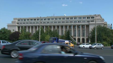 BUCHAREST, ROMANIA - SEPTEMBER 09: Palatul Victoria (Victoria Palace) on Septemb Footage