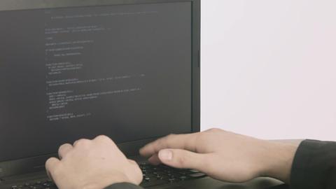 Business man computer programmer hands typing Footage