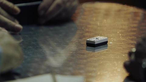 Old men playing dominoes Footage