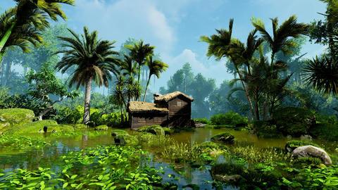 Jungle hut Animation
