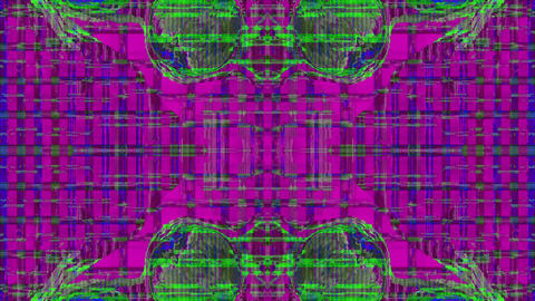 Transforming ornamental cyberpunk trendy iridescent background Live Action