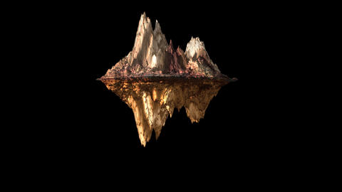 Rock lava mountain texture rotate animation 3d on the black background Animation