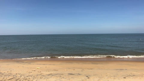 Negombo, Sri Lanka, sea surf in clear weather Live Action