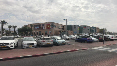 Eilat, Israel - transport moves through the streets of the resort town part 13 Live Action