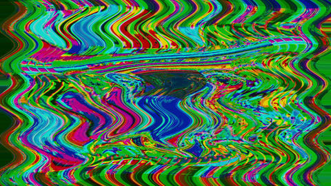 Multi-colored ornamental sci-fi trendy glittering background. Old tv mix Live Action