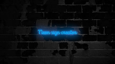 Neon Text Presets Apple Motion Template