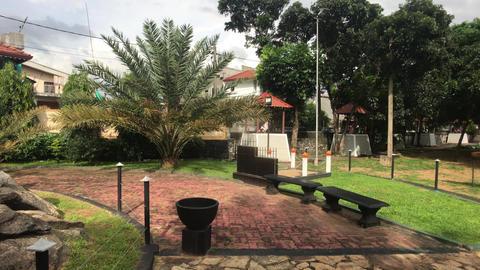 Negombo, Sri Lanka, November 23, 2019, St. Sebastian Church, church grounds with Live Action