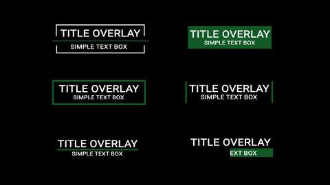 Title Overlay モーショングラフィックステンプレート