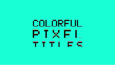 Colorful Pixel Titles After Effectsテンプレート