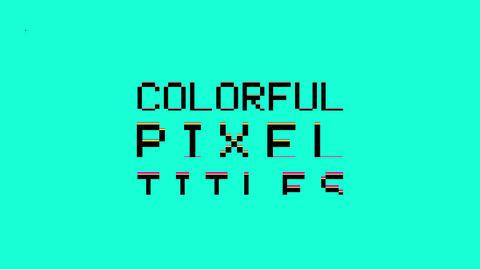 Colorful Pixel Titles Plantillas de Motion Graphics
