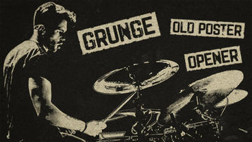Grunge Old Poster Opener Premiere Pro Template