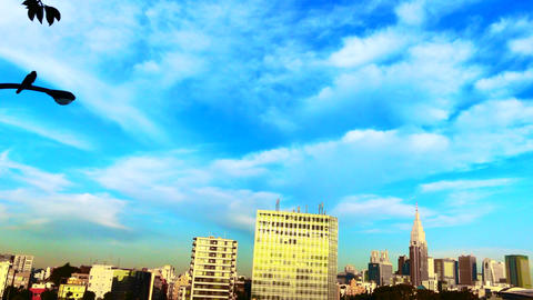 4K time-lapse video of the morning cityscape in Japan Footage