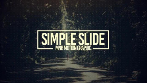 Simple-slide After Effects Template