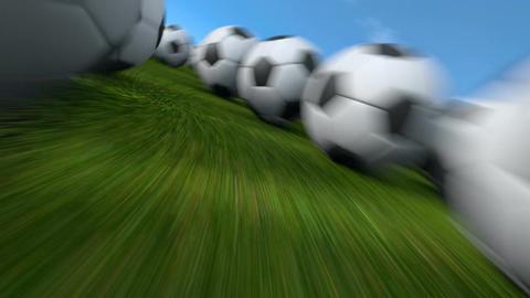 Endless balls flight Animation