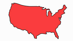 USA Map sketch illustration hand drawn animation transparent Animation
