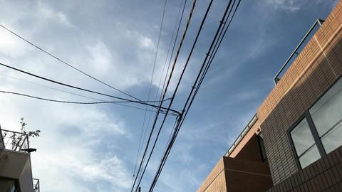 Narrow sky in Tokyo Japan Footage