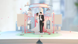 Wedding Animation Newly Wed couple bride groom animation Animation